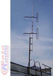 Петлевая антенна круговая Радиал D2 VHF